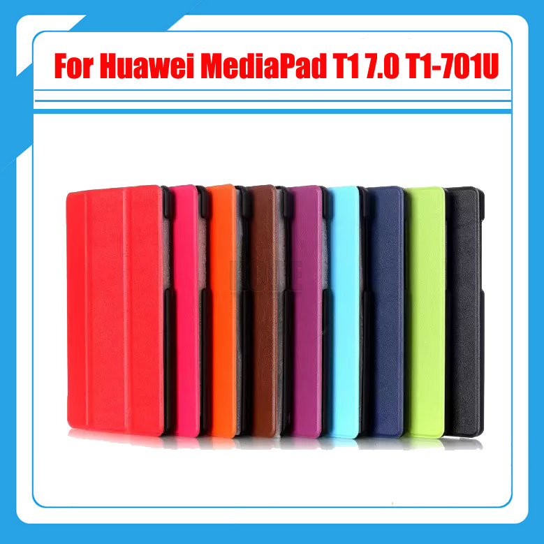 3 in 1 Luxury Leather Stand Tablet Cover For Huawei MediaPad T1 7.0 T1-701U 701U +Screen Protector + Stylus Case mediapad m3 lite 8 0 skin ultra slim cartoon stand pu leather case cover for huawei mediapad m3 lite 8 0 cpn w09 cpn al00 8