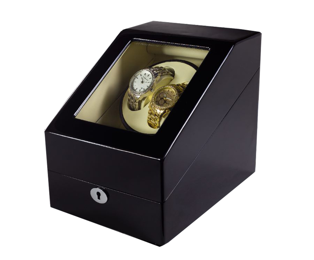 DHL Send 4 Colors Luxury Wooden Watch Winder Wristwatch Box Rotary Automatic Rotating Watch Winder Display Gloss Piano Paint 2016 latest luxury 5 modes german motor watch winder yellow spray paint wooden white pu leater inside automatic watch winder