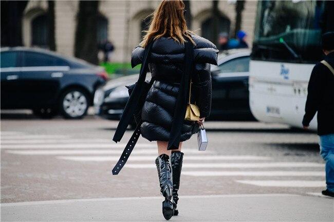 Supérieure Qualité D'hiver 2019 Lumineux Coton À Manteau Ael Chaud Lacets Fahsion Doudoune Survêtement B0PqwxY