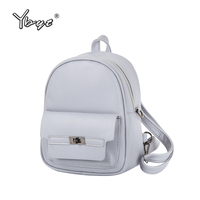 YBYT Brand 2017 New Women PU Leather Student School Bookbags Shopping Packages Fashion Casual Travel Bags
