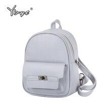 Ybyt брендовая Новинка 2017 женщин Искусственная кожа студент школьные портфели торговые пакеты моды случайные дорожные сумки консервативный стиль рюкзаки