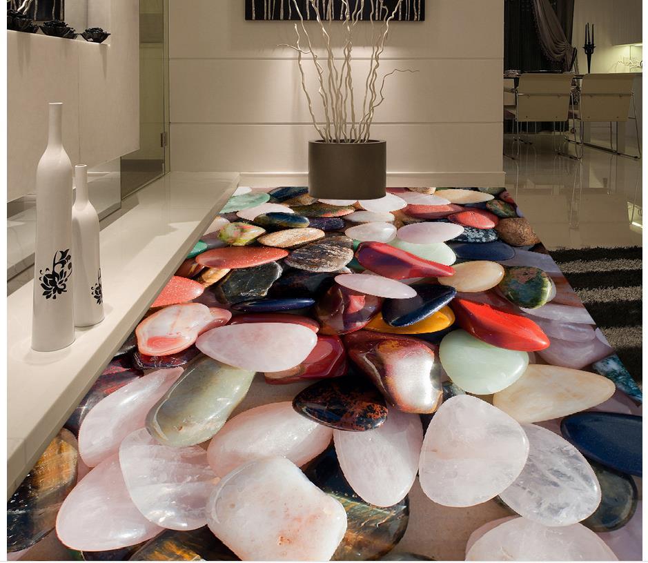 Color stone Photo floor wallpaper 3d stereoscopic  3d floor wallpapers Custom Photo self-adhesive 3D floor