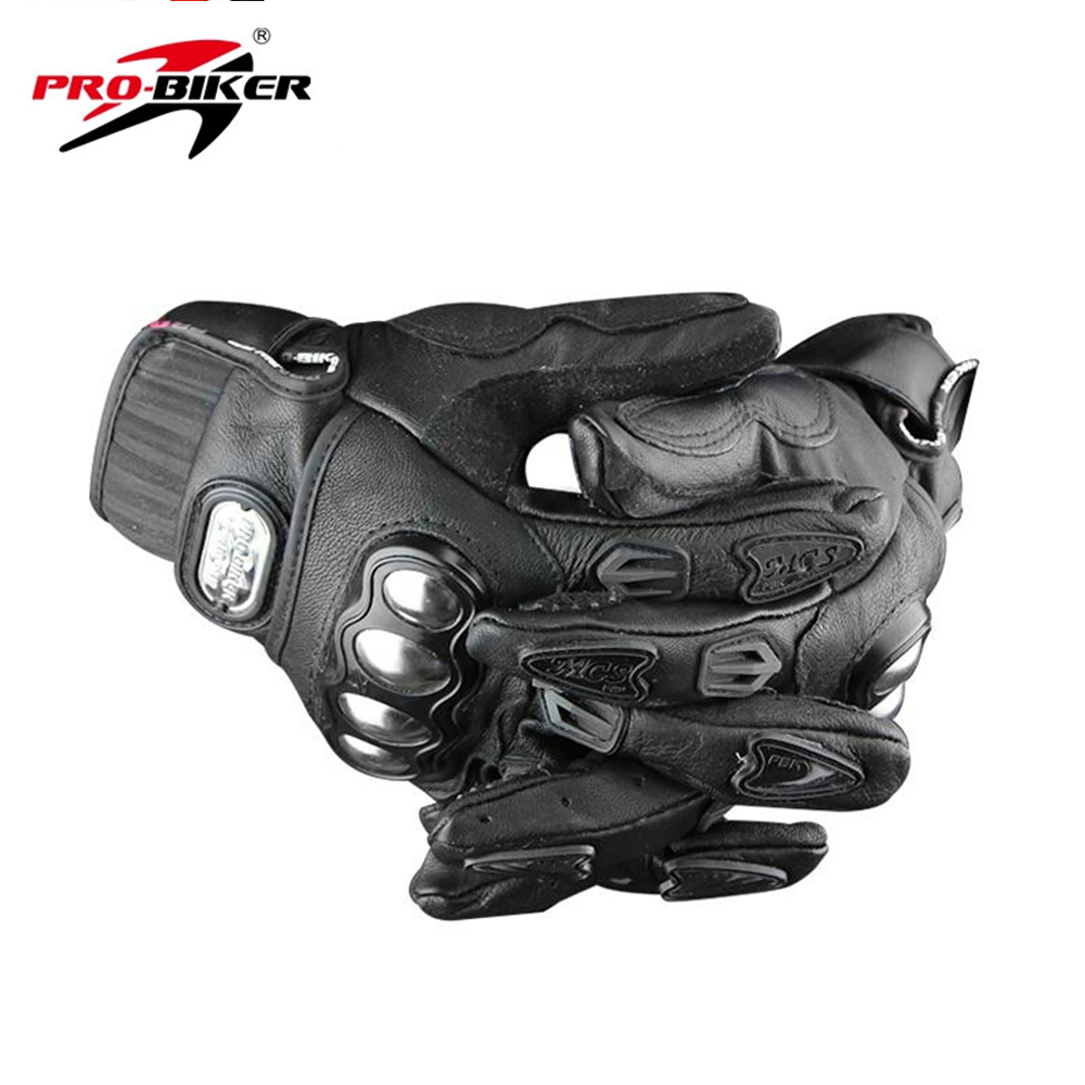 Motorcycle gloves xl - Pro Biker Motorcycle Gloves Genuine Goat Leather Dirt Bike Full Finger Gloves Motocross Off Road Racing Gloves Luva Size M L Xl