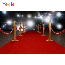 Yeele Shiny Light Red Carpet Railing Stage Portrait Photography Background Customized Photographic Backdrops For Photo Studio allenjoy photographic background luxury shining red carpet curtain photography fantasy fabric vinyl backdrops studio party
