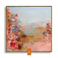Peach Tree Modern Abstract Art Canvas Oil Painting Decoration Home Living Room Wall Decor For Sale on Canvas