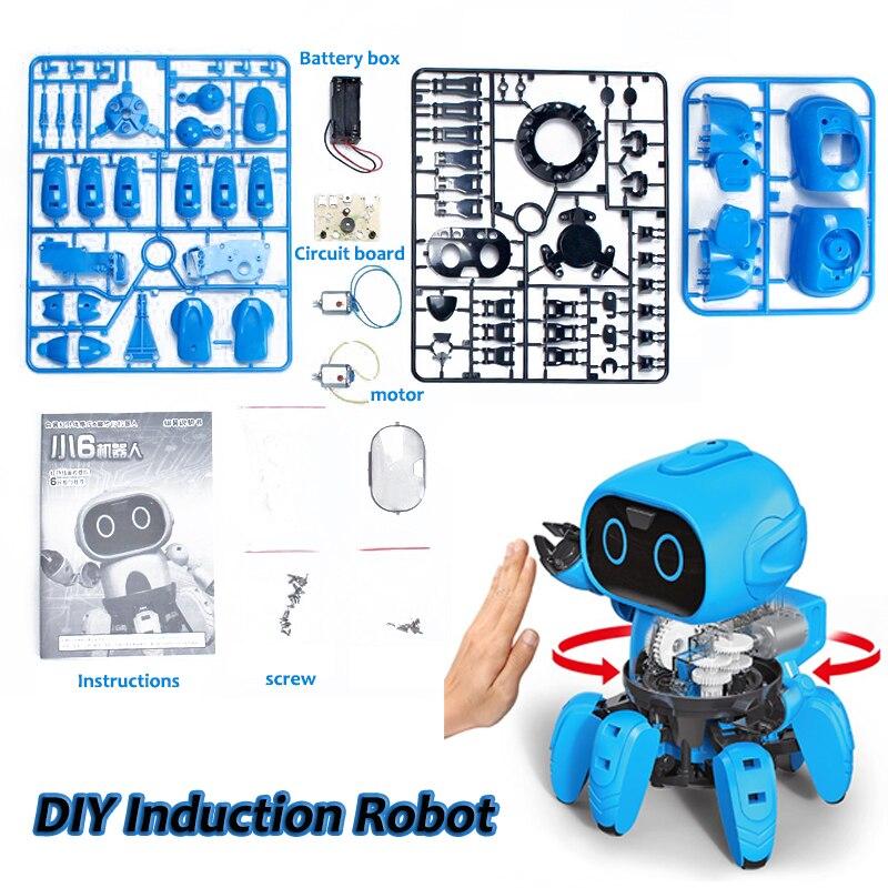 Induction intelligente RC Robot DIY Assemblé Électrique Suivre Robot avec Geste Capteur D'évitement D'obstacle Enfants Jouets Éducatifs