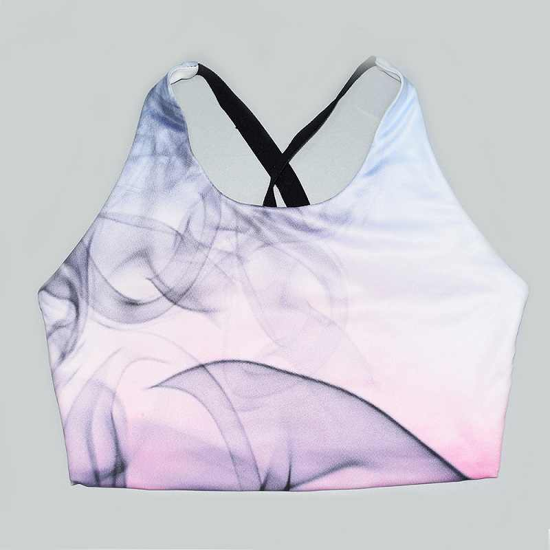Yoga Sets Woman Sportswear  Workout Sets Gym Clothes Women Smoke Printed Fitness Jumpsuit Crop Tank Top Leggings Running,ZF169