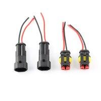 2 pinos à prova dwaterproof água conector de fio elétrico plug carro elétrico motocicleta auto conectores com cabo universal conector kit