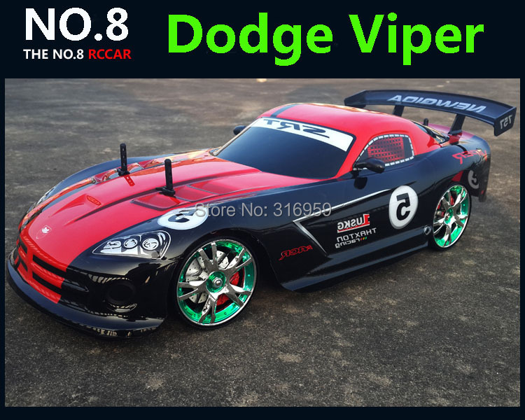 ФОТО Large 1:10 RC Car High Speed Racing Car 2.4G Dodge Viper 4 Wheel Drive Radio Control Sport Drift Racing Car Model electronic toy