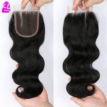 7A Grade Body Wave Lace Closure Peruvian Virgin Hair Free Shipping Lace Closure Bleached Knot Free Middle 3 Side Part Closure