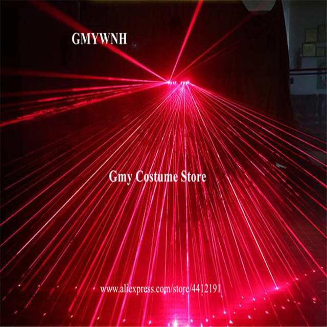 M52 Red beams 4pcs heads laser gloves stage dance wears led gloves rechargeable party show performance laser man projector dj