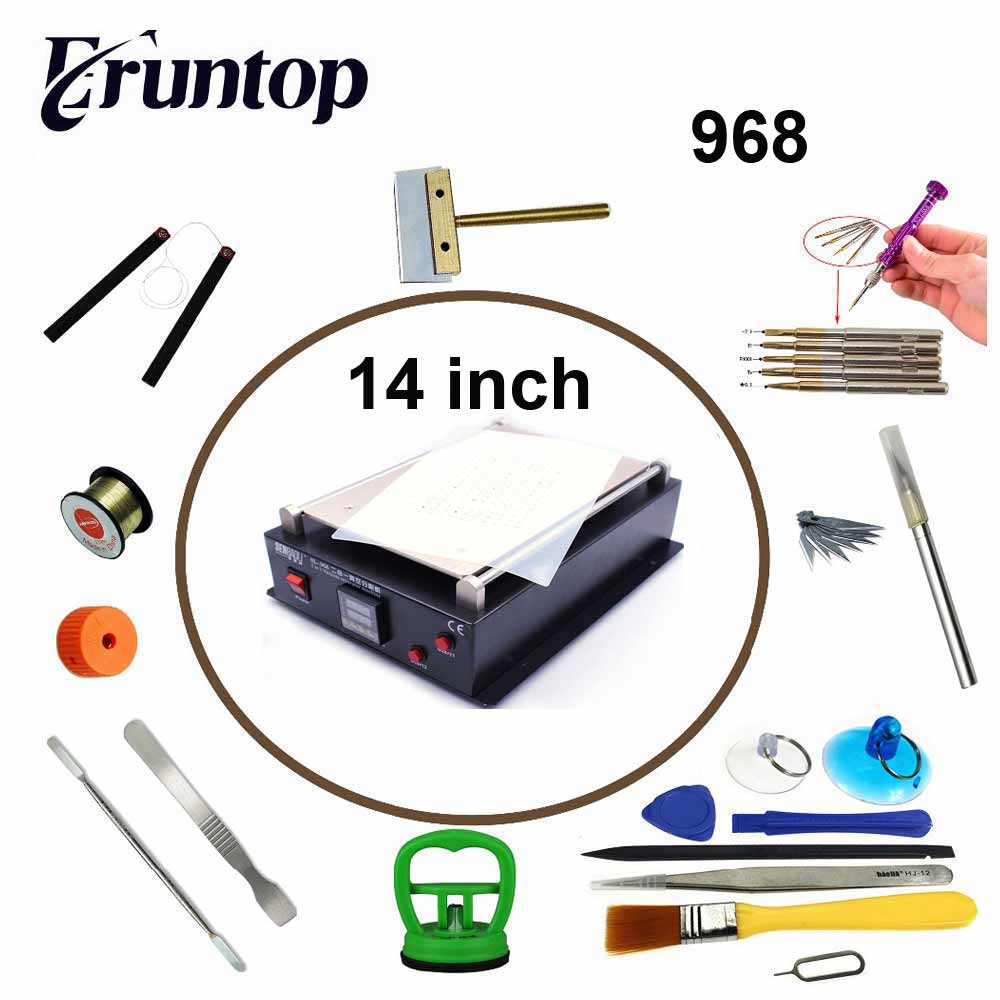 110V/220V 14 inch Built-in Dual Pump for iPad for iPhone Glass Vacuum  LCD Separator Split Screen Repair Machine for Tablet PC