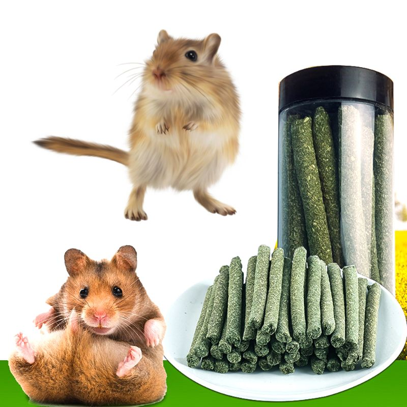 Natural Rabbit Hamster Grass Chew Sticks Pet Food Toy Natural Snack For Rabbit Hamsters Guinea Pig Chinchillas Squirrel