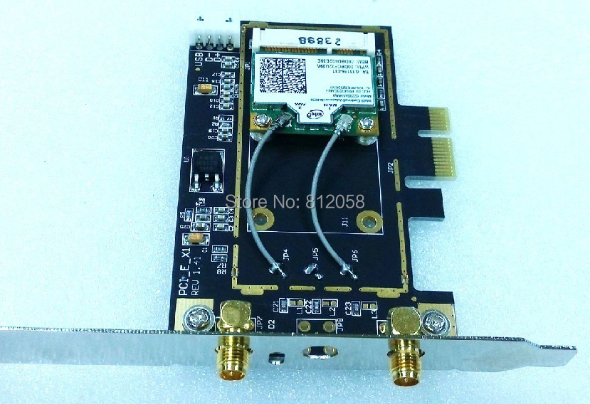 SSEA New Intel 6230 6230AN Mini PCI E 300Mbps 2 4G/5GHZ WiFi Bluetooth 3 0  Wireless card with Antenna for Desktop-in Network Cards from Computer &