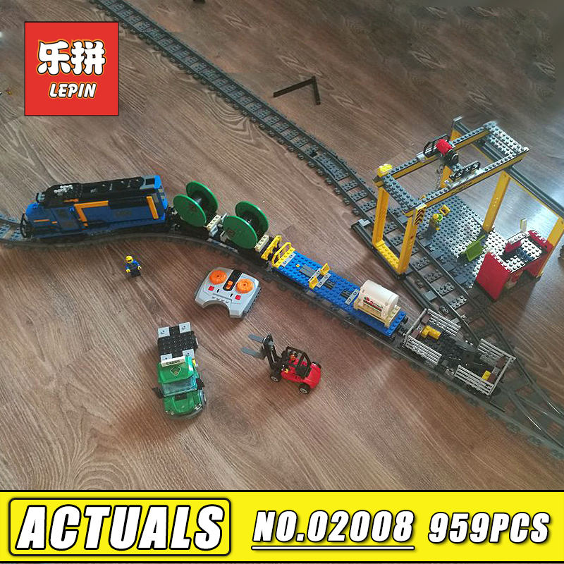 RC Train Blocks Lepin City 02008 the Cargo Train Set 60052 Remote Control Train Model & Building Blocks Bricks Children Toy Gift lepin 02009 city engineering remote control rc train model