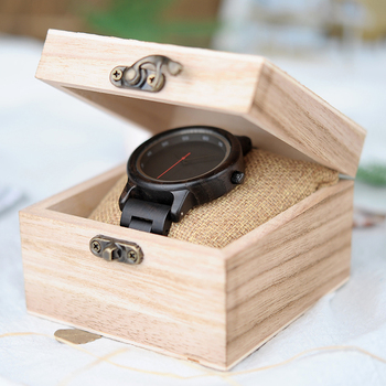 Bobo Bird Brand Wooden Elegant Men Quartz Watches 5