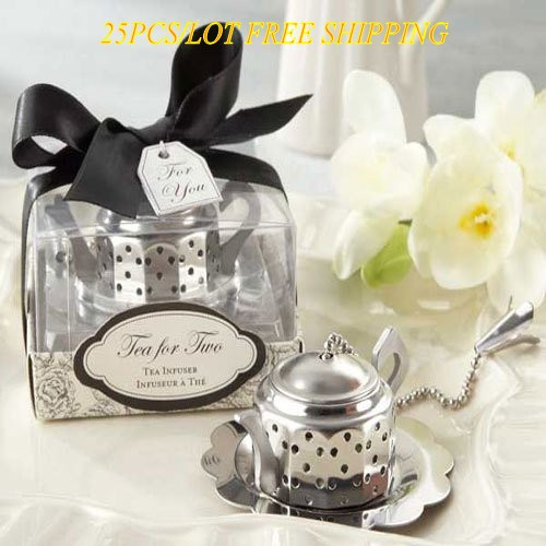 25 Pieces lot Newest Wedding gifts for Guests of Teapot Tea Infuser Wedding favors for