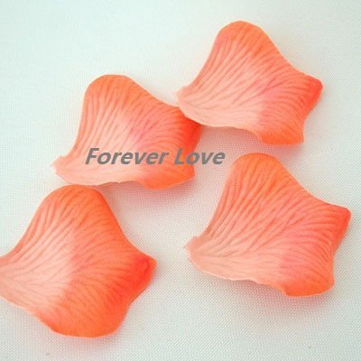 1300PCS (1300 PCS=10 PACK=1 SET)Beautiful Wedding Peach Artificial Rose Flower Petal Decor--Free Shipping