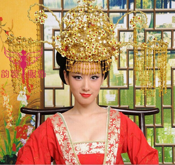 Many Designs Women's Hair Tiaras Hanfu Costume Hair Accessory Ancient Chinese Wedding Phoneix Tiaras Bridal Crownpiece vintage chinese women wedding tiaras hair piece red gold bridal wedding crownpiece with tassel ancient empress hair jewelry