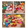 14 unids marioneta caperucita roja mermains rey familia guantes títere cuentos para niños niños juguetes educativos de aprendizaje
