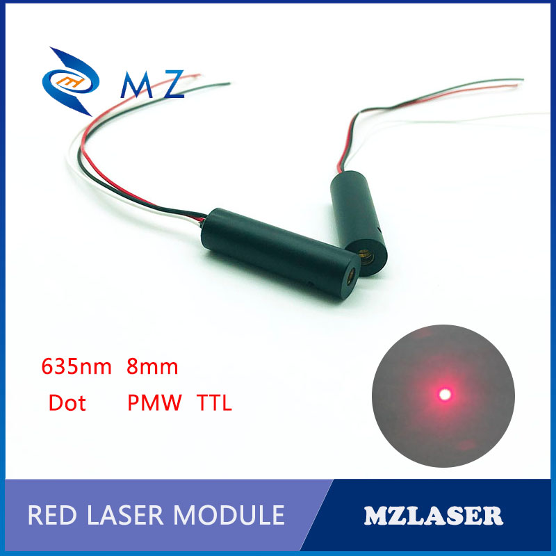 PMW Control Laser 8MM 635NM 1MW/5MW/10MW Industrial Grade APC Drive Red Dot Laser Module