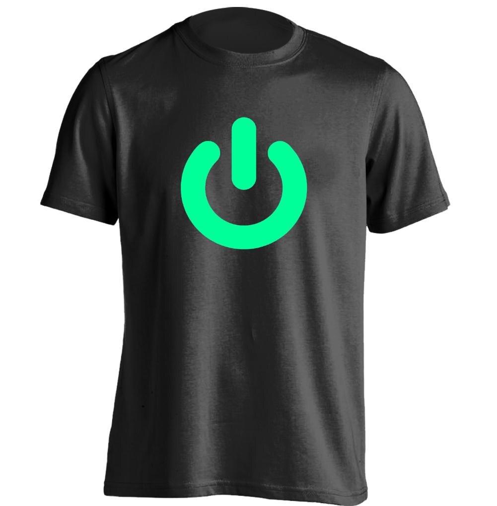 Design t shirt glow in the dark - Glow In The Dark Power On Mens Womens Retro T Shirt Custom T Shirt
