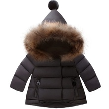 New 2017 Winter Girls Coat Warm Girl Children Outerwear Coat Cotton Paddad Kids Clothing fashion Jackets princess wear