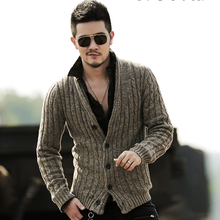 Winter Men Casual Knitted Cardigan Slim European Style Long Sleeve Cardigan Fashion Retro Warm New Thick Knitwear for Men