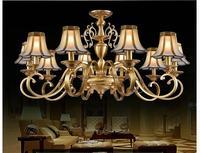 Европейский вновь латунные люстры, античная латунь люстра, Винтажные общая Медь Стекло AC110V/220 В 100% гарантия бесплатная доставка