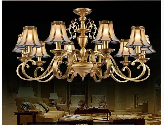 Lampadario Antico Ottone : Europeo recentemente ottone lampadario ottone antico lampadario