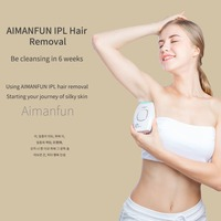 AIMANFUN IPL Hair Removal Device Body Hair Removal Painless Epilator For Home Face & Body Bikini Zone Armpits Portable Handheld