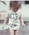 ins* new 2016 unisex baby kids cotton T-shirts cloud pattern boys girls summer top T shirt 1-5Y free shipping