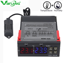 STC-3028 110V-220V 24V 12V 10A Digital Temperature Humidity Control Thermometer Hygrometer Cooling Heating Switch Thermostat