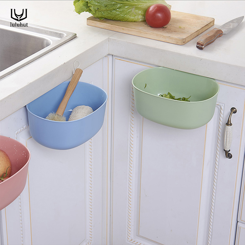 luluhut new design kitchen cabinets creative door trash plastic vegetable container bathroom storage box trash can kitchen tools