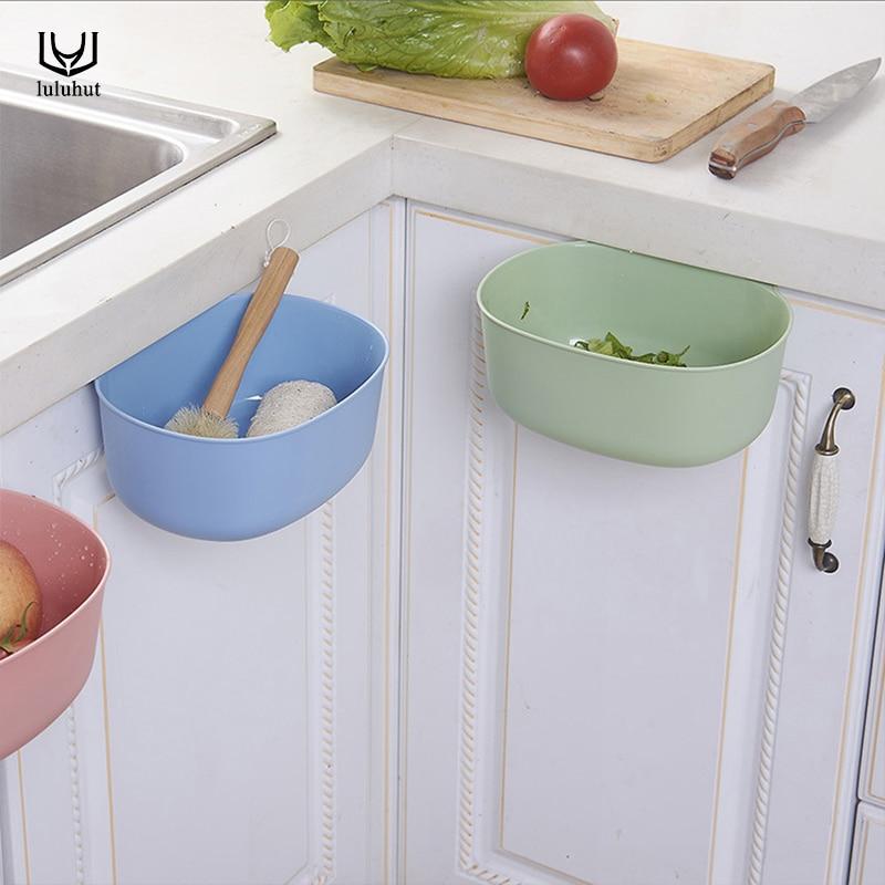 luluhut new design kitchen cabinets creative door trash plastic vegetable container bathroom storage box trash can kitchen tools