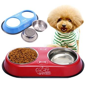 Dog Stainless Steel Travel Feeding