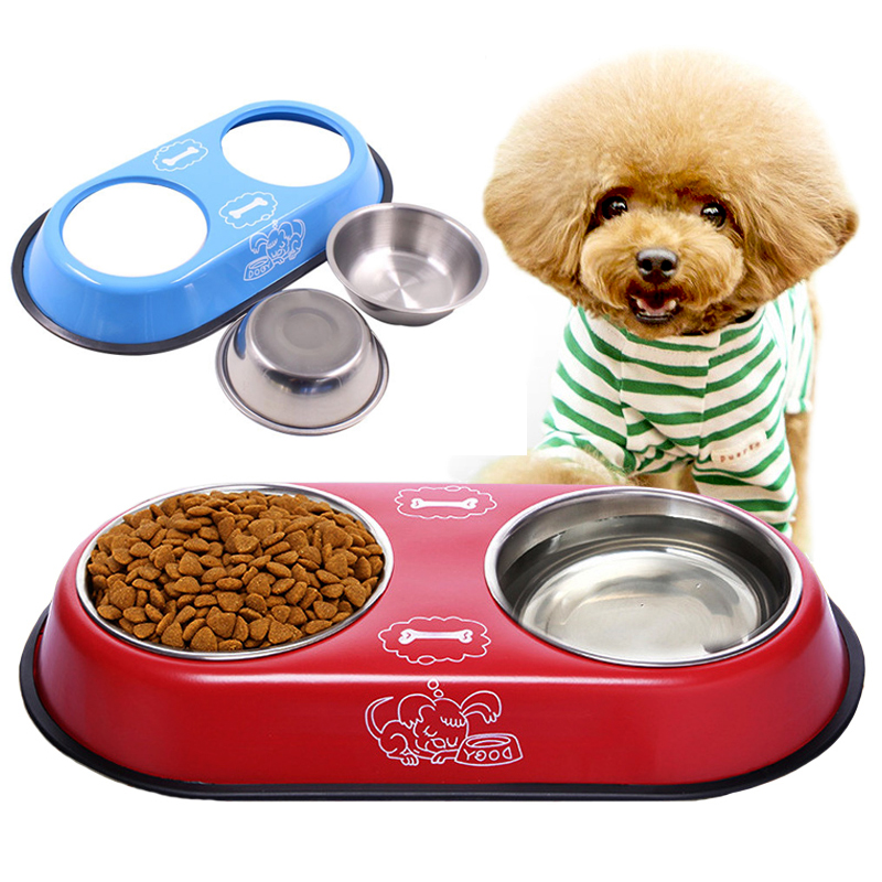 Dog Bowl Stainless Steel Travel Feeding Feeder Water Bowl For Pet Dog Cat Puppy Food Bowl Water Dish Stainless Steel Dou4 Sizes