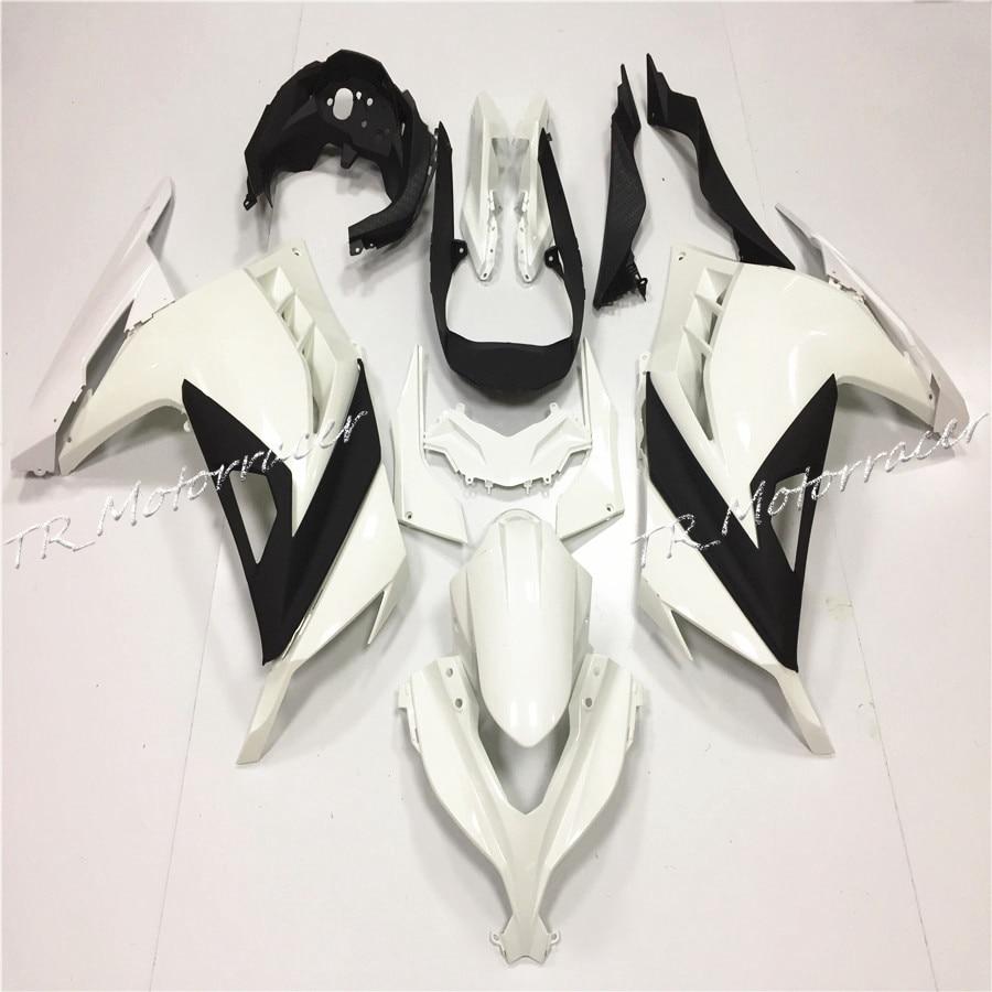 АБС Некрашеный инъекции обтекатель кузова Набор для Kawasaki ниндзя 300 2013 zx300 преимущества мотоцикл частей Белый