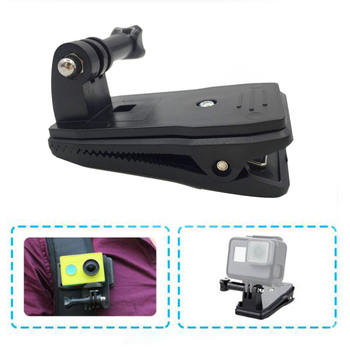 360 Degree Rotary Backpack Hat Clip Clamp Mount for Gopro Hero 5 3 4 Session SJCAM SJ4000 For Xiaomi Yi 4K Go Pro Accessory 1