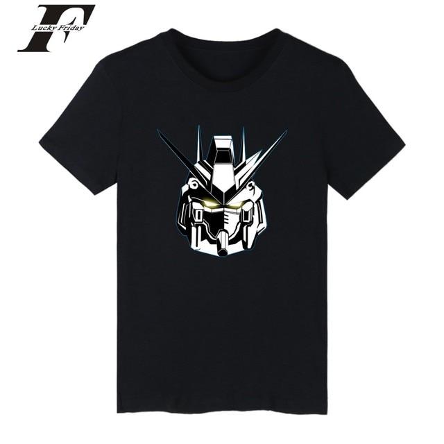 LUCKYFRIDAYF GUNDAM Tee Shirts Short Sleeve Japan Animation Model ...