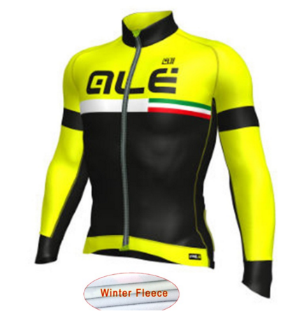 ALE Men Fleece Thermal Winter Cycling Jacket Windproof Bike Bicycle Coat Clothing Long Sleeve Cycling Jerseys ropa ciclismo G16 2017 santic mens breathable cycling jerseys winter fleece thermal mtb road bike jacket windproof warm quick dry bicycle clothing