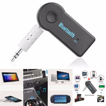 Universal 3.5mm Car Bluetooth Audio Music Receiver Adapter Auto AUX Streaming A2DP Kit for Speaker Headphone