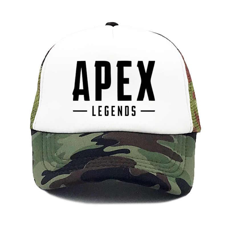 b8ec31cb6685d ... Titanfall Apex legends Trucker Cap Hot New Game baseball cap Cool Mesh Caps  Summer Baseball Net ...