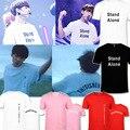 KPOP Corea Moda 2016 BTS Bangtan niños JungKook Siempre Joven Álbum Algodón Concierto Camiseta K-POP T-shirt T-shirt PT177