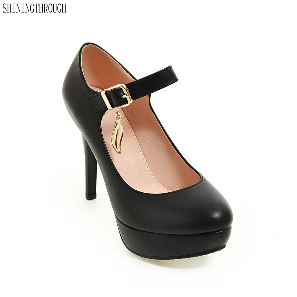 2018 New women stiletto high heel shoes sexy lady platform spring fashion heeled pumps heels shoes plus big size 34-43 new 2017 spring autumn plus size red wedding shoes for woman high heels pumps bowknot mid heel women sexy stiletto heel slip on