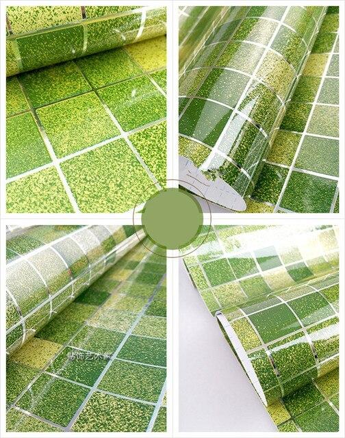 0.45 M * 5 M verde papel pintado autoadhesivo PVC Adhesivos azulejo ...
