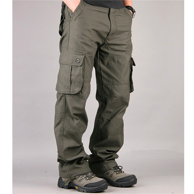 Men's Cargo Pants Casual Mens Pant Multi Pocket Military Overall Men Outdoors High Quality Long Trousers 30-44 Plus size 2