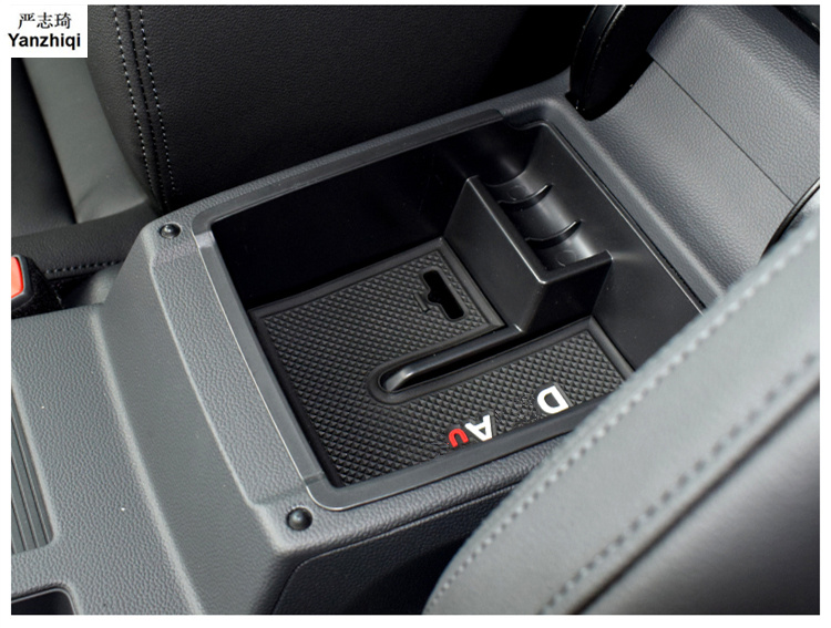 Car Central Armrest Storage Box container holder sticker Car accessories Car Styling for 2016 2017 2018 VW Volkswagen Passat B8