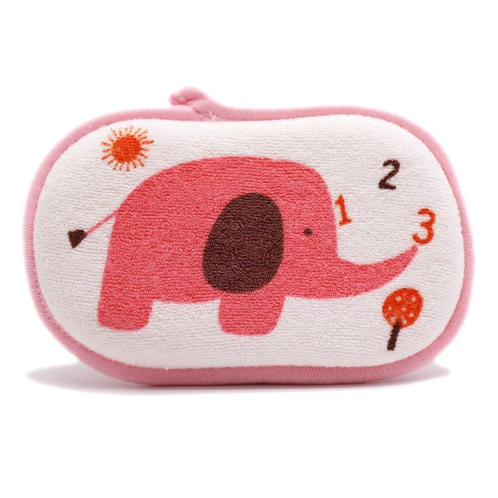 Разноцветная Мочалка для ванной, подушка для купания, хлопковая губка с животными, игрушки, детские банные щетки, милые мягкие Мультяшные пузырьки - Цвет: pink