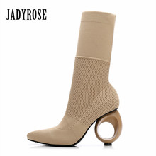High Heels Autumn & Winter Calf Boots For Women